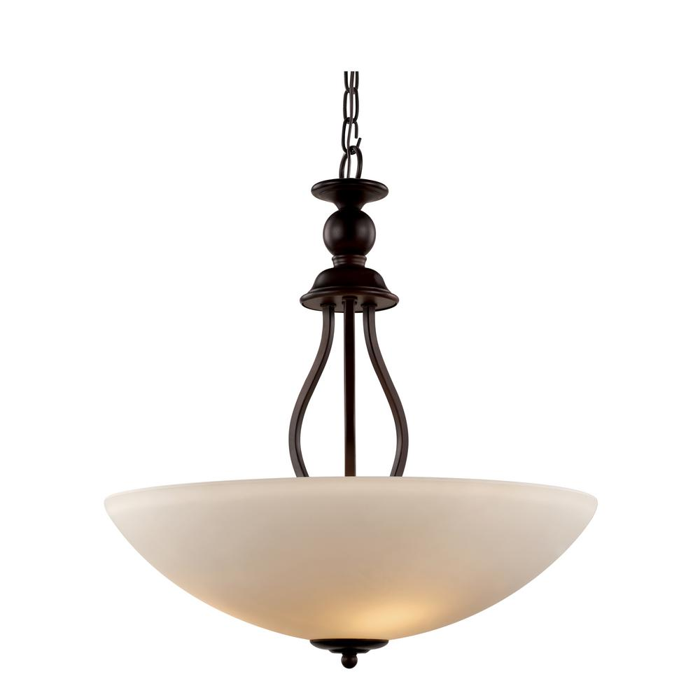 Bel Air Lighting Claiborne 3-Light Rubbed Oil Bronze