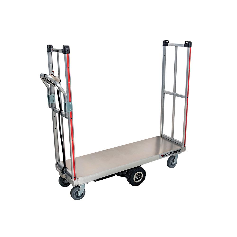 1,000 lbs. Capacity Motorized U-Boat Platform Truck Cart with Removable Handle