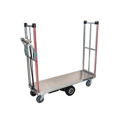 1,000 lbs. Capacity Motorized U-Boat Platform Truck Cart with Removable Handle and Non-Marking Casters