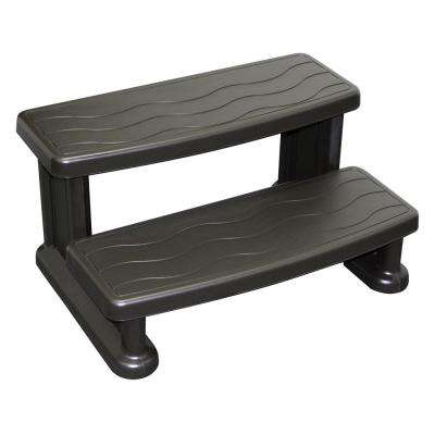 Grey Step for Square or Round Hot Tubs