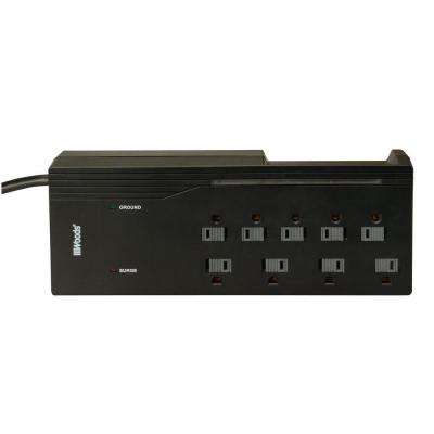 Electronics 9-Outlet 2000-Joule Surge Protector with Sliding Safety Covers and Circuit Breaker with 4 ft. Power Cord