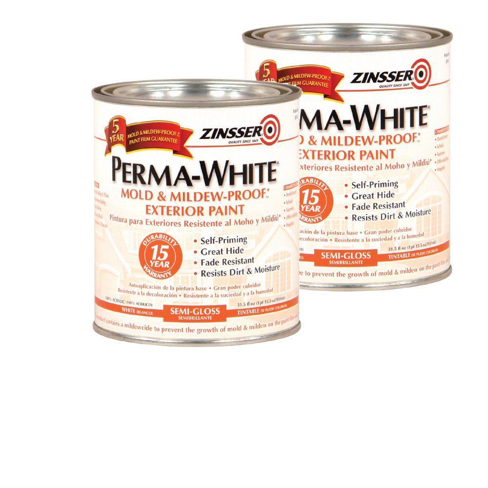 Zinsser 1 Qt. Perma-White Semi Gloss Primer (2-Pack)-DISCONTINUED