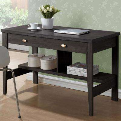 Folio Black Espresso 2-Drawer Desk