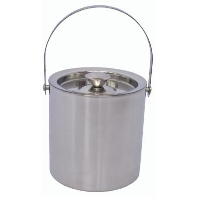 DEWAN AND SONS 2 Qt. Stainless Steel Double Wall Ice Bucket