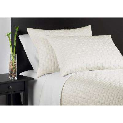 100% Rayon from Bamboo Ivory King Coverlet Set