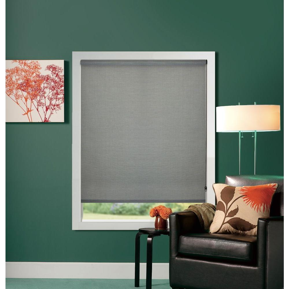 Bali Cut-to-Size Charcoal Premium UV Blocking Solar Roller Shade - 55 in. W x 72 in. L