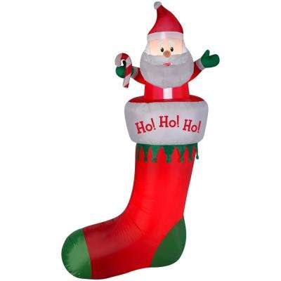 7 ft. Airblown Stocking Hanging From Gutter Inflatable