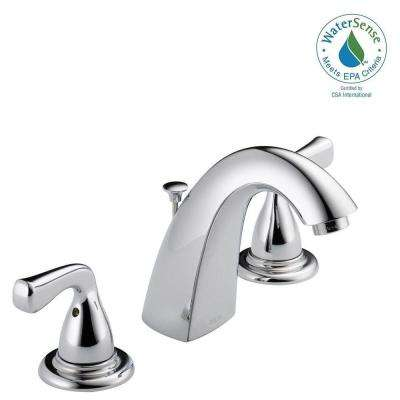 Foundations 8 in. Widespread 2-Handle Bathroom Faucet in Chrome