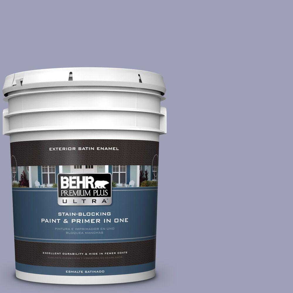 BEHR Premium Plus Ultra 5-gal. #630F-4 Wild Thistle Satin Enamel Exterior Paint