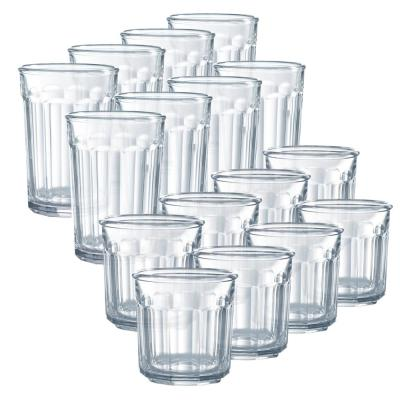 Working Glass 16-Piece Clear Glass Set