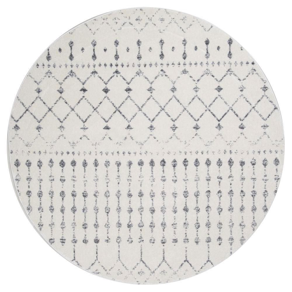 Blythe Modern Moroccan Trellis Gray 10 ft. Round Rug