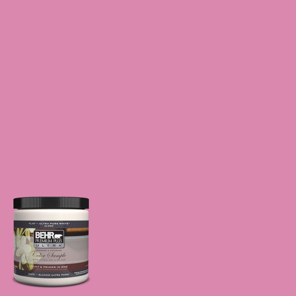 Behr Premium Plus Ultra 8 Oz 100b 5 Springtime Bloom Flat Interior Exterior Paint And Primer