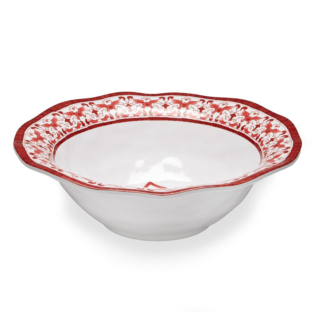 Talavera 12 in. Red Melamine Serving Bowl