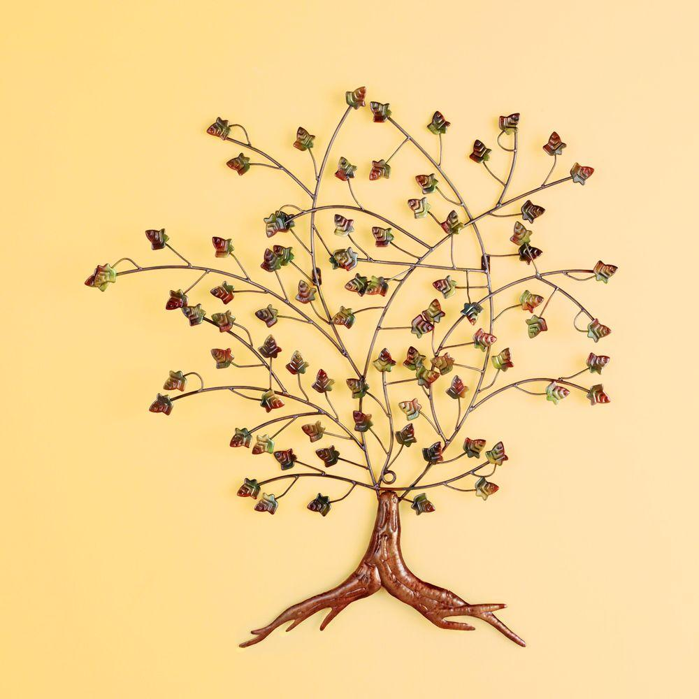 Southern Enterprises 36.75 in. x 39 in. Autumn Tree Wall Art