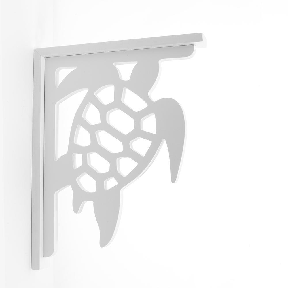 Decorative 9-1/2 in. PVC Sea Turtle Shelf Bracket
