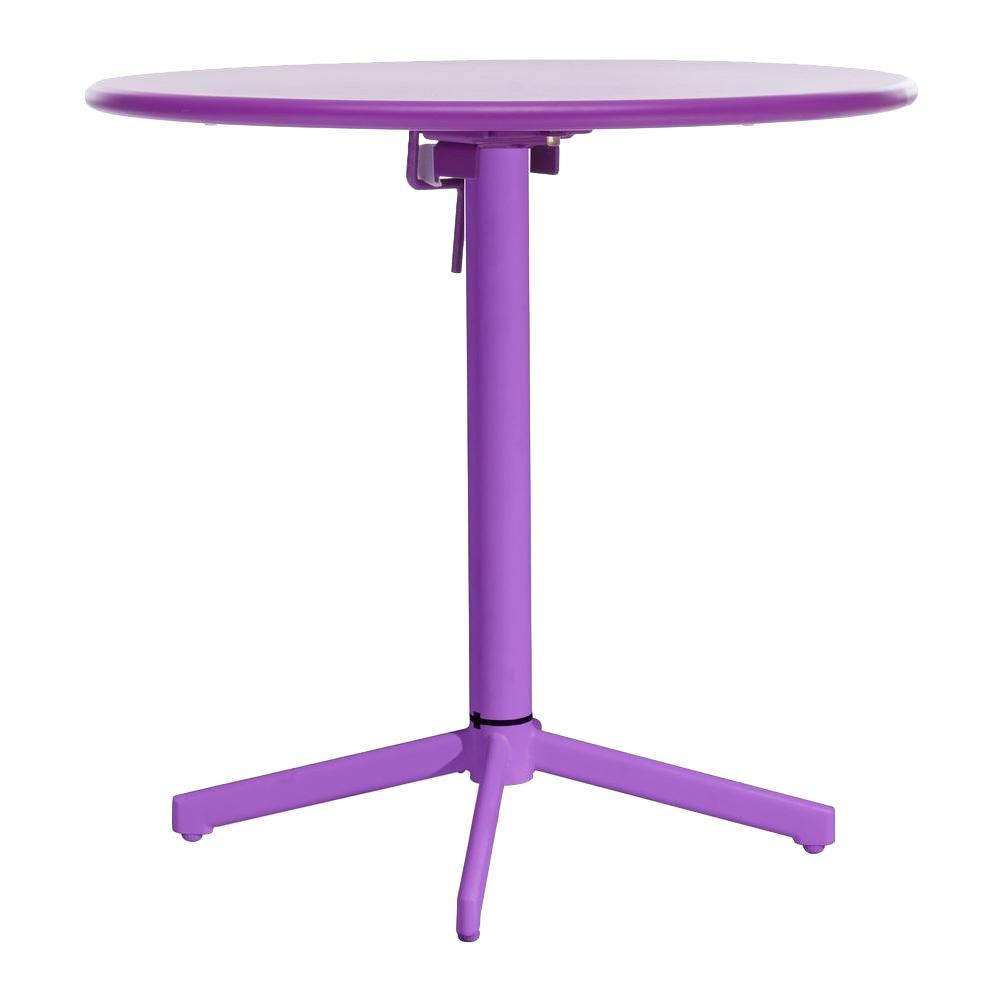 ZUO Big Wave Purple Patio Folding Round Table
