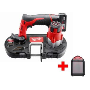 Milwaukee M12 12-Volt Lithium-Ion Cordless Sub-Compact Band Saw XC Kit with Free M12 Wireless Speaker by Milwaukee