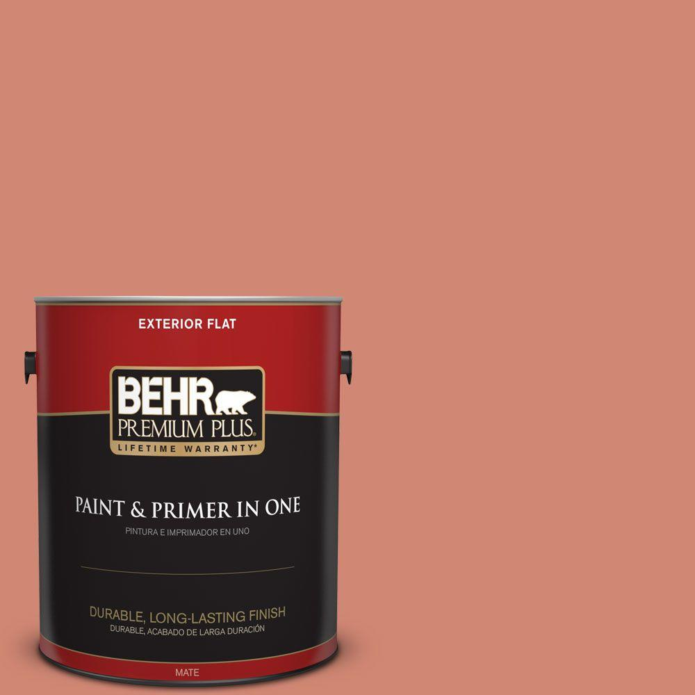 1 gal. #HDC-WR16-02 Rosy Copper Flat Exterior Paint
