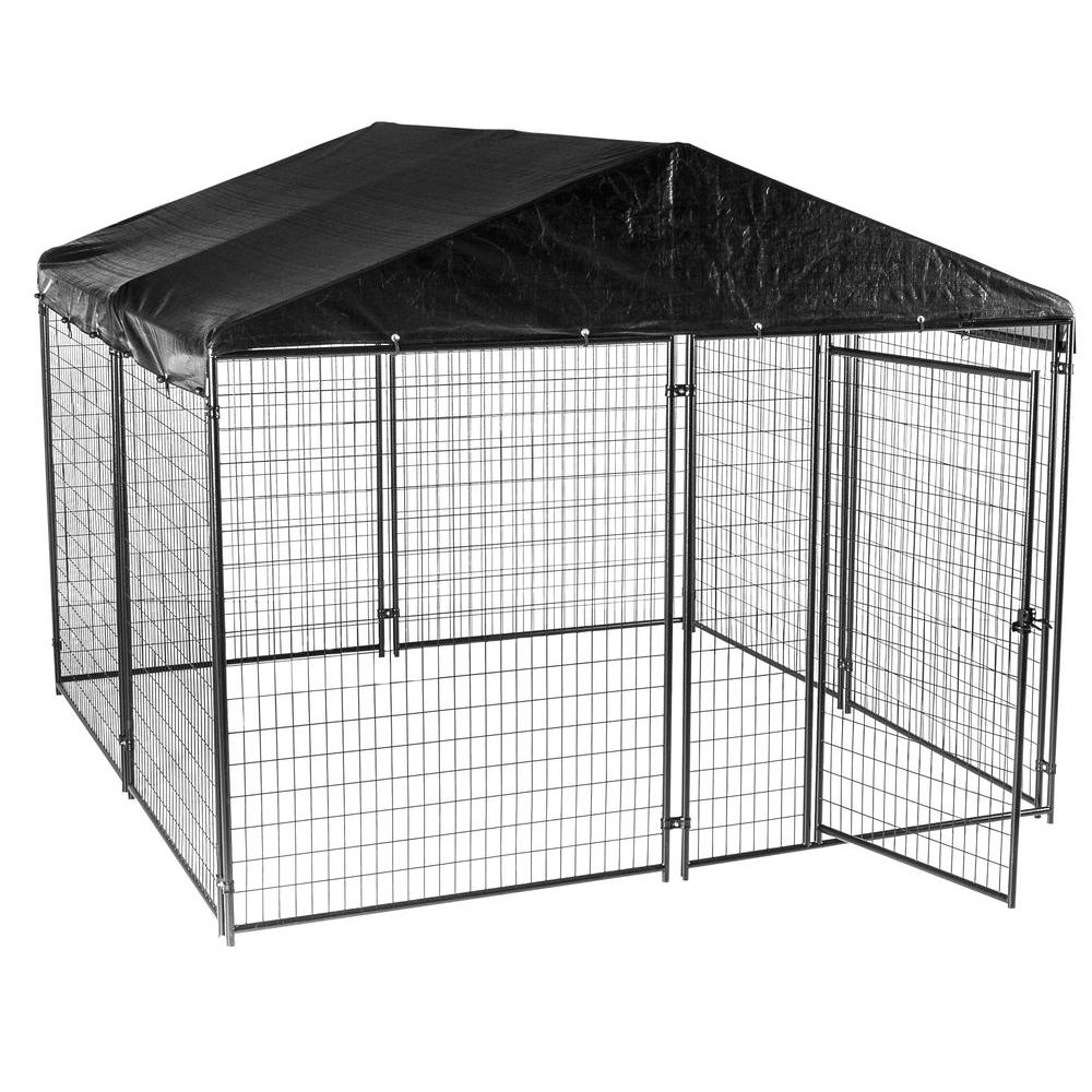 Lucky Dog 6 Ft H X 10 Ft W X 10 Ft L Modular Kennel With Cover And Frame Cl 69145 The Home Depot