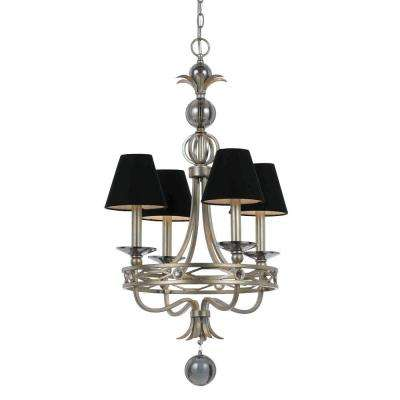 8701 4-Light Champagne Chandelier