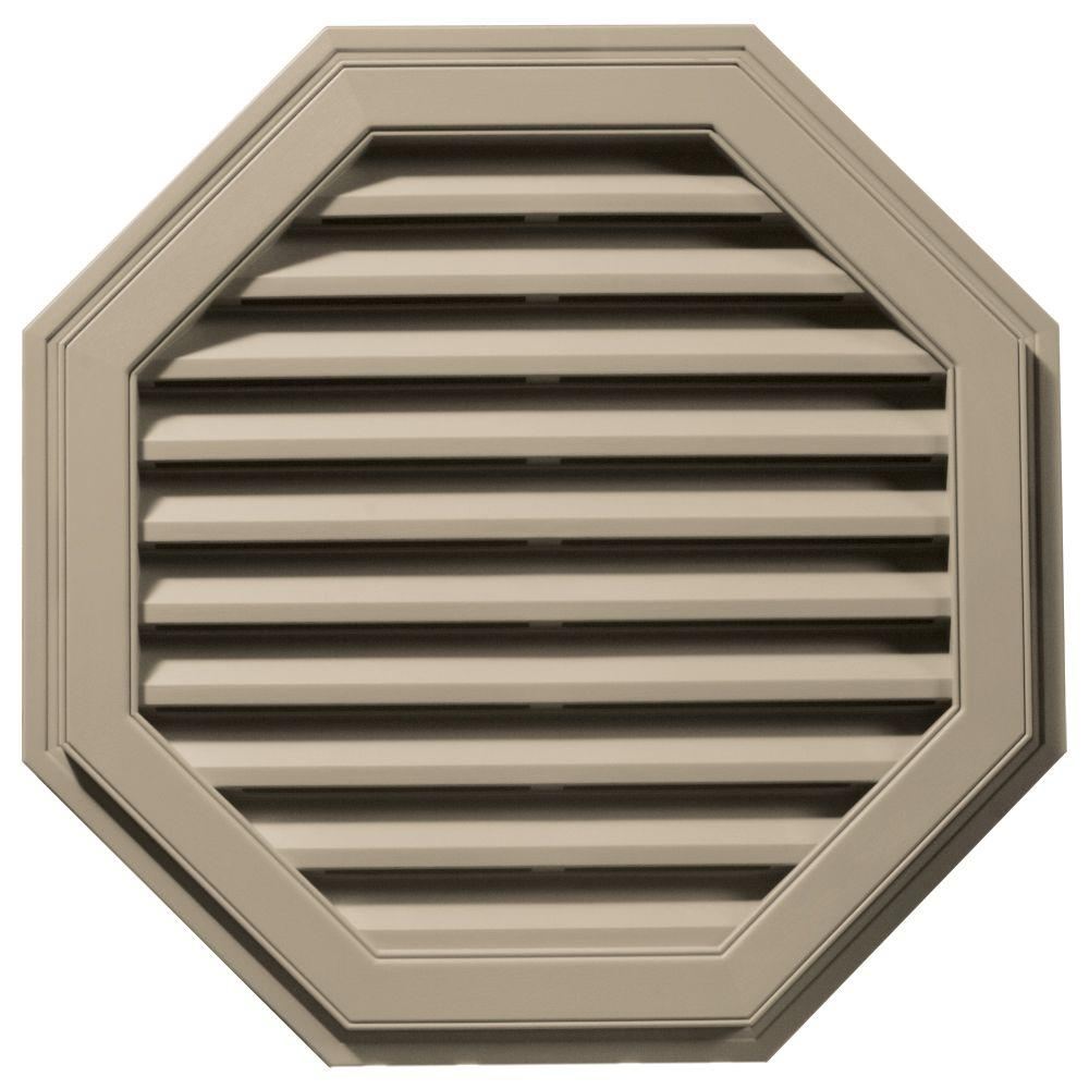 Builders Edge 32 in. Octagon Gable Vent in Clay