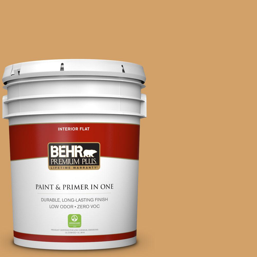 5 gal. #300D-5 Desert Caravan Flat Zero VOC Interior Paint and