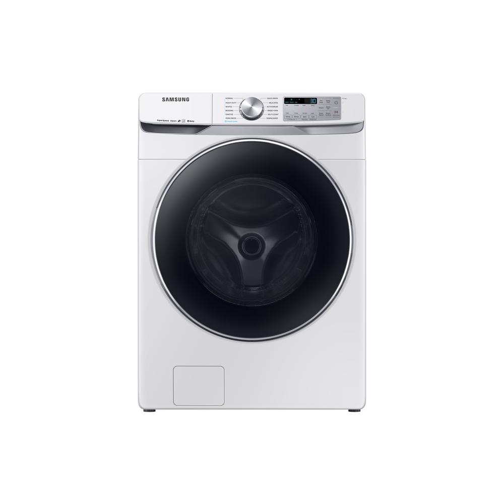 4.5 cu. ft. High-Efficiency White Front Load Washing Machine with Steam
