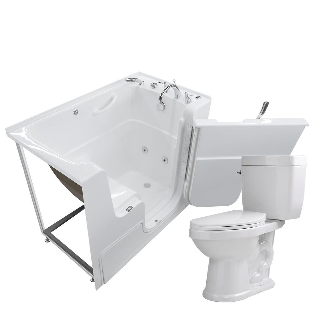 Universal Tubs Wheelchair Accessible 53 in. Walk-In Whirlpool ...