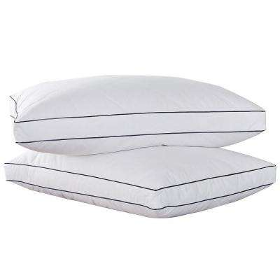 Feather & Down Blend Gusset Jumbo Pillow (Set of 2)
