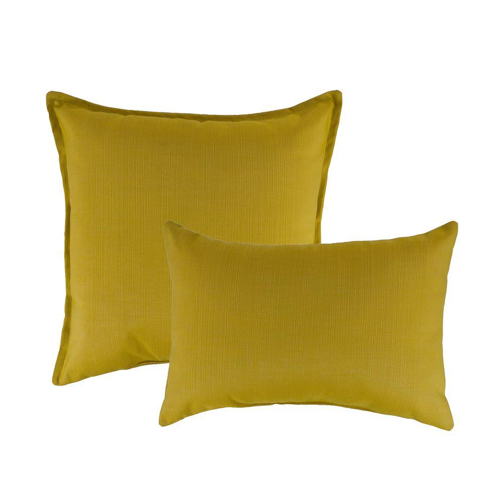 Sunbrella Echo Citron Combo Outdoor Pillow