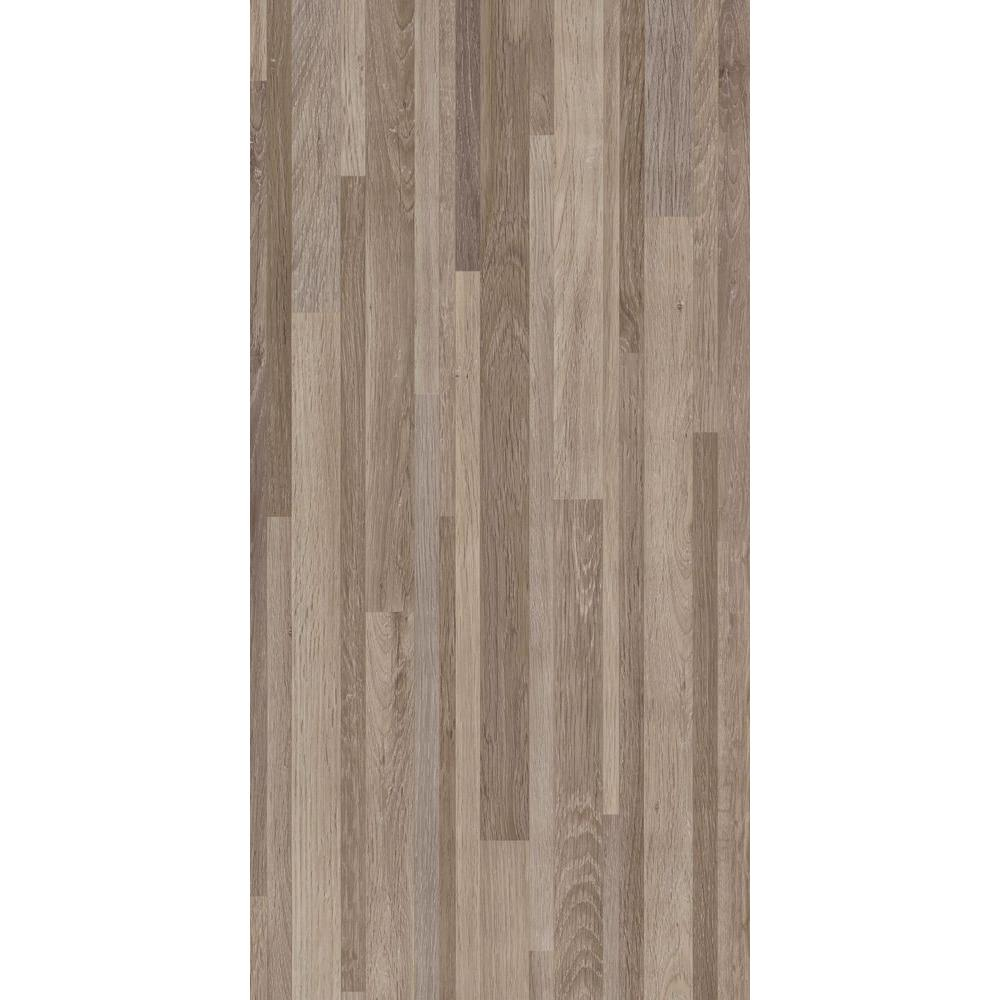 Trafficmaster Taupe 12 In X 24 In Banded Wood Peel And