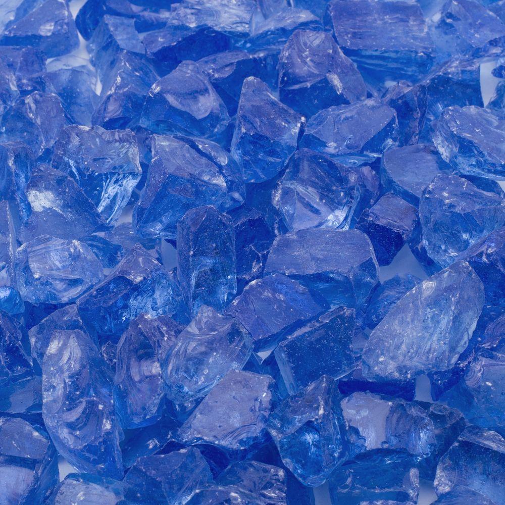 Margo Garden Products 1/2 in. 10 lb. Medium Royal Blue Landscape Fire Glass
