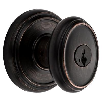 Prestige Carnaby Venetian Bronze Entry Door Knob Featuring SmartKey Security