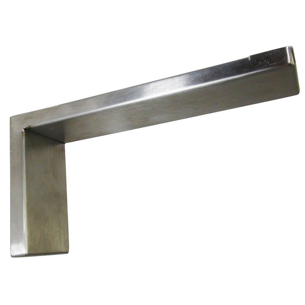 Federal Brace Providence Novelle 8 In X 4 Stainless Steel Low Profile Countertop Bracket 39104 The Home Depot