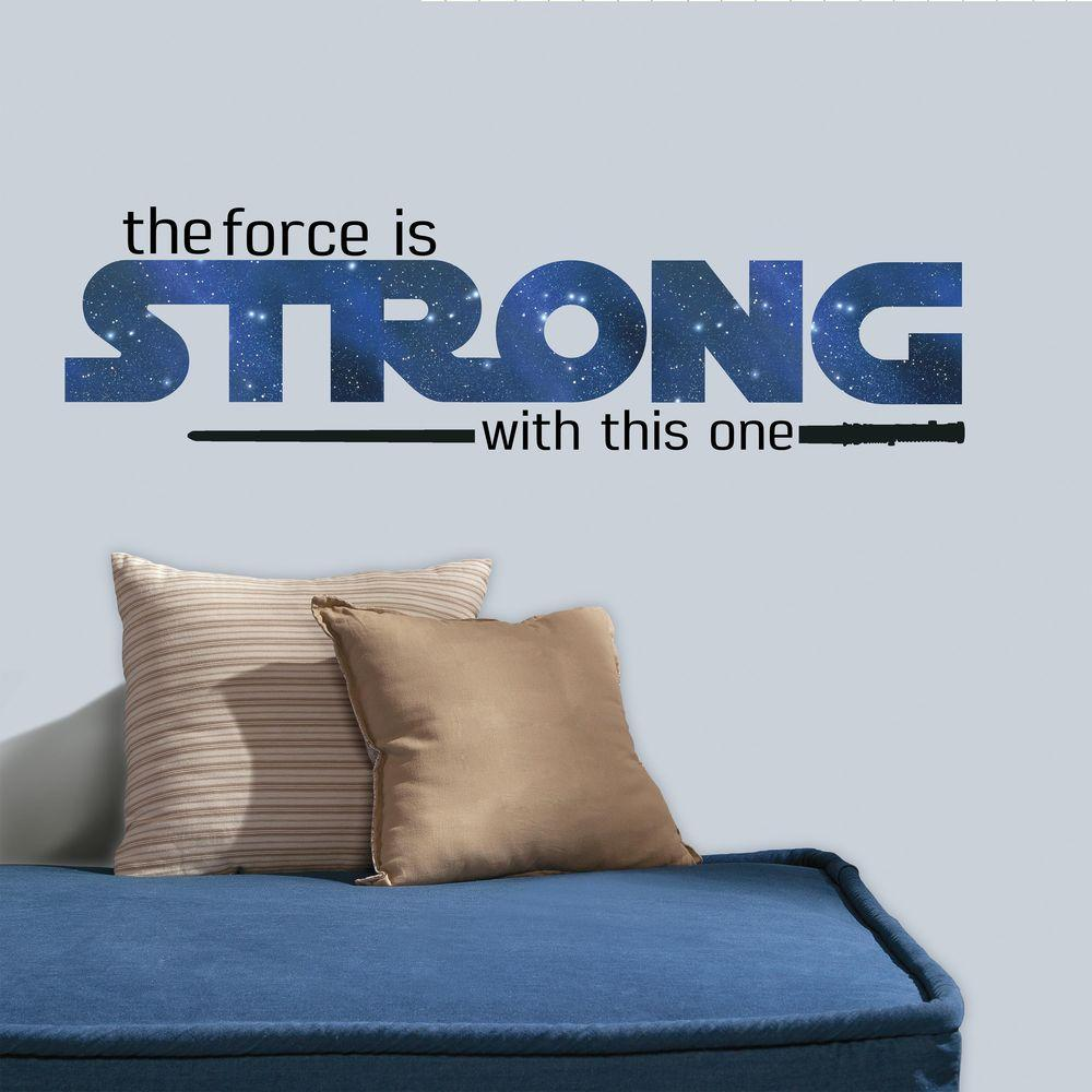 RoomMates 5 in. W x 11.5 in. H Star Wars Classic the Forc...
