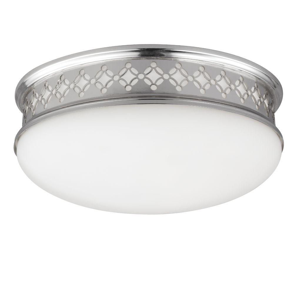 Devonshire 2-Light Polished Nickel Flush Mount