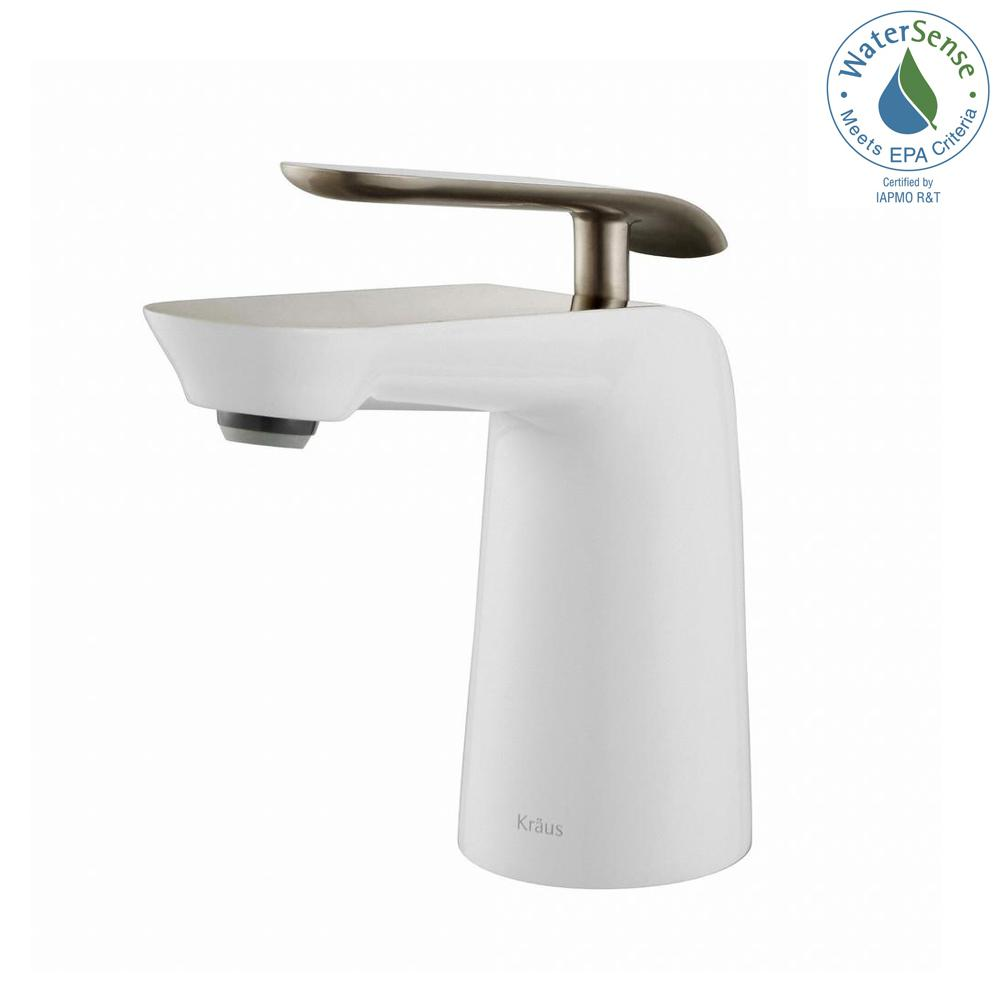 Seda Single Hole Single-Handle Basin Bathroom Faucet in Brushed Nickel and