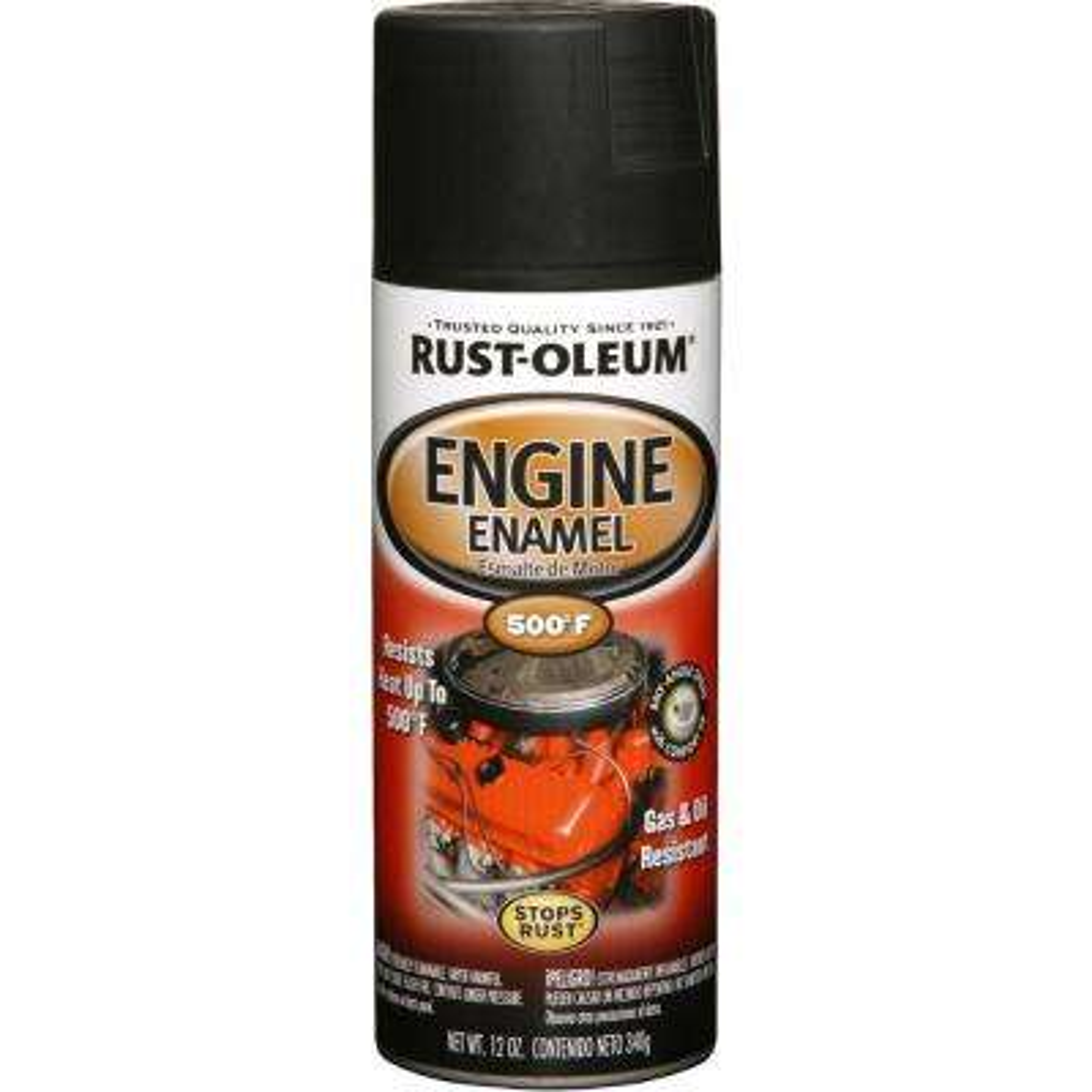 12 oz. Semi-Gloss Black Engine Enamel Spray Paint (6-Pack)