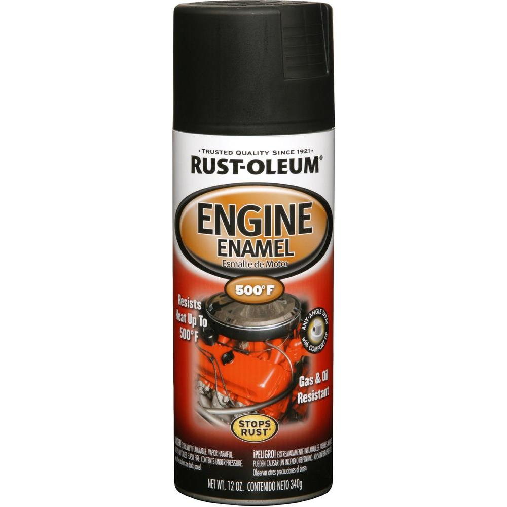Rust-Oleum Automotive 12 oz. Semi-Gloss Black Engine Enamel Spray Paint