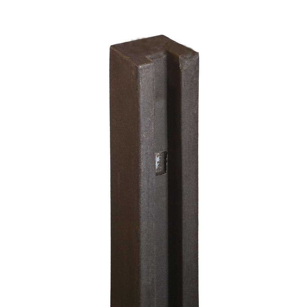 5 in. x 5 in. x 8-1/2 ft. Dark/Walnut Brown Composite