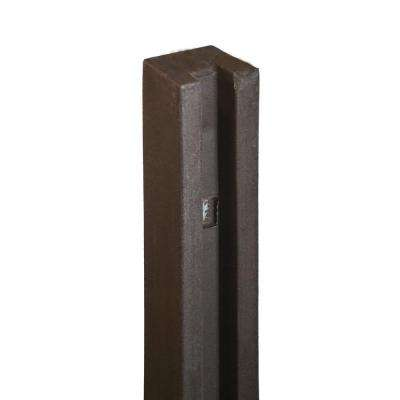 5 in. x 5 in. x 8-1/2 ft. Dark/Walnut Brown Composite Fence End Post