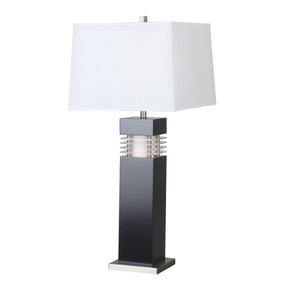 Wyatt 32 in. Black Table Lamp