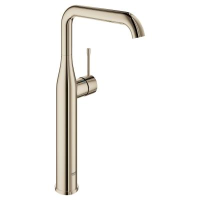 Essence Single Hole Single-Handle Bathroom Faucet with Temperature Limiter in Polished Nickel