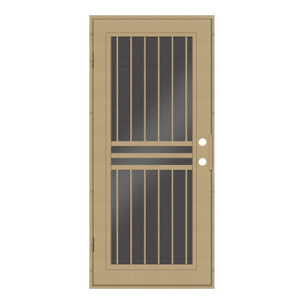 perforated metal screen door. Unique Home Designs 32 In. X 80 Plain Bar Desert Sand Left- Perforated Metal Screen Door E