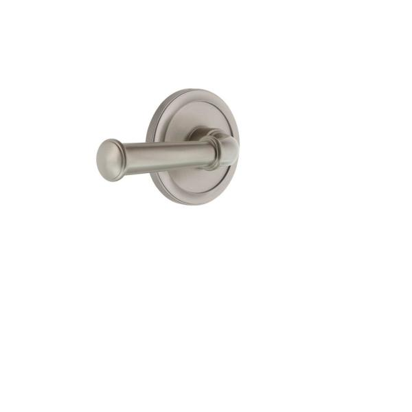 Grandeur Circulaire Rosette 2 3 8 In Backset Satin Nickel Privacy Bed Bath With Georgetown Door Lever 820300 The Home Depot