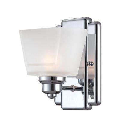 Metropolis 1-Light Chrome Interior Halogen Bath Vanity Light
