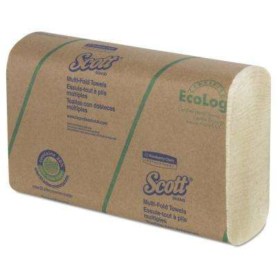 9-2/5 in. x 9-1/5 in. Multi-Fold Towels 20% Plant Fiber/Absorbency Pockets (250 Per Pack) (16 Pack Per Carton)