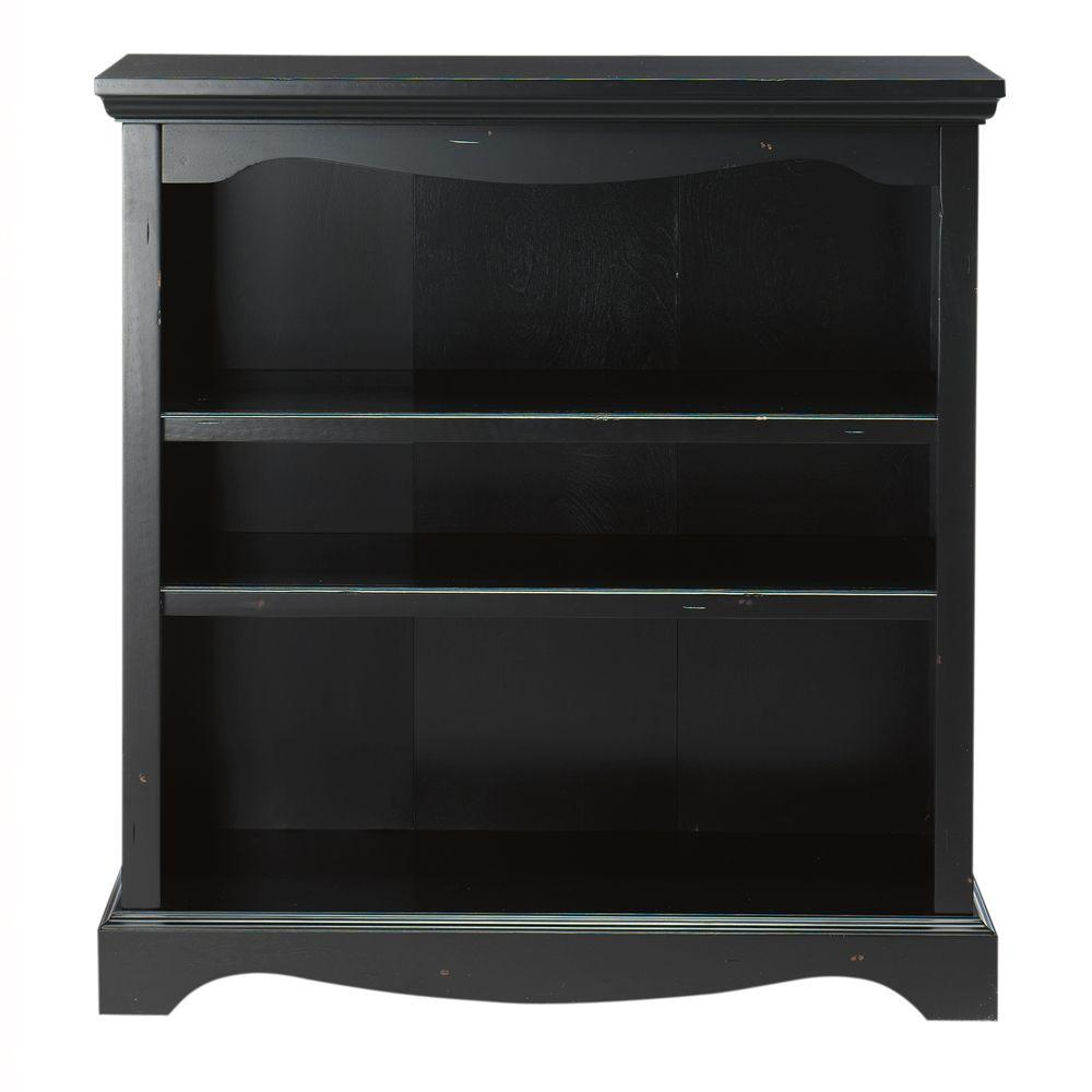 Home Decorators Collection Sheffield 3-Shelf Open Bookcase in Antique Black