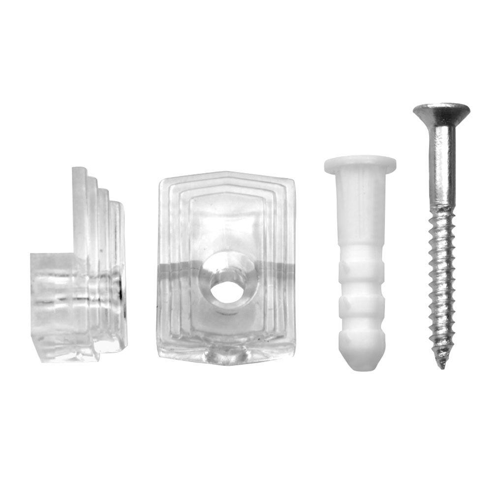 OOK 1/4 in. 20 lb. Plastic Mirror Holder (4-Piece)-50225 ...