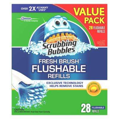Fresh Brush Flushable Refills 28-Pack (Case of 6)